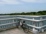 彩湖でクロスバイク
