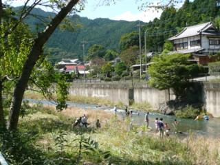高麗川水遊び